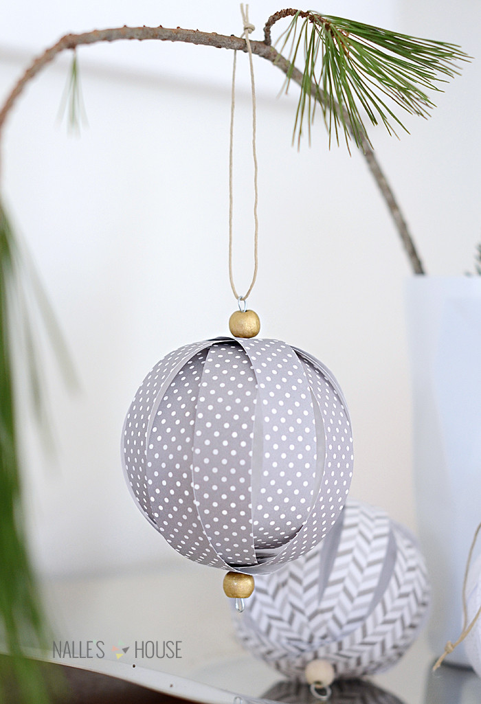 Best ideas about DIY Christmas Ball Ornaments . Save or Pin Homemade Paper Ball Ornaments Now.