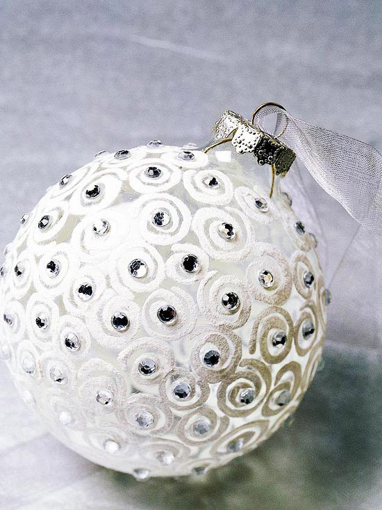 Best ideas about DIY Christmas Ball Ornaments . Save or Pin white swirl ornament Now.