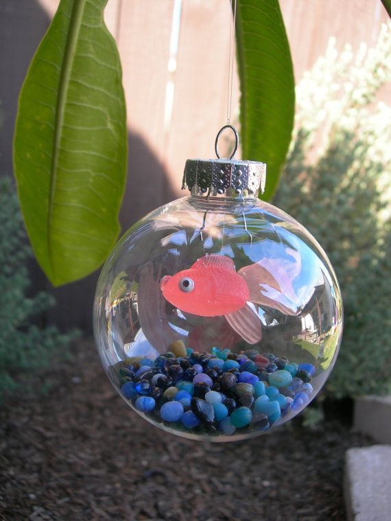 Best ideas about DIY Christmas Ball Ornaments . Save or Pin Christmas tree fish tank ornament Omg the kids are going Now.