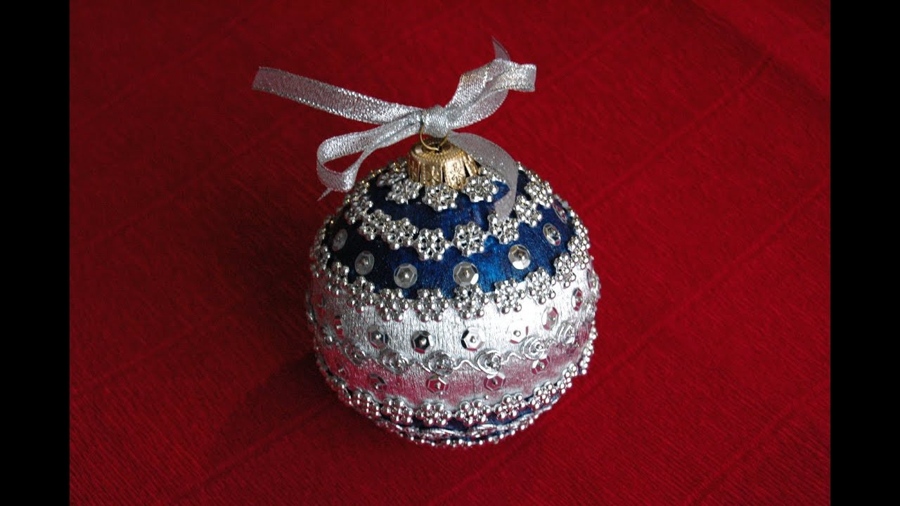 Best ideas about DIY Christmas Ball Ornaments . Save or Pin How to make Christmas ball ornament DIY Now.