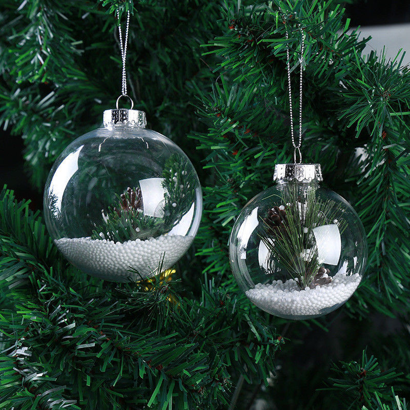 Best ideas about DIY Christmas Ball Ornaments . Save or Pin Super Clear Plastic Balls DIY Christmas Tree Hanging Now.