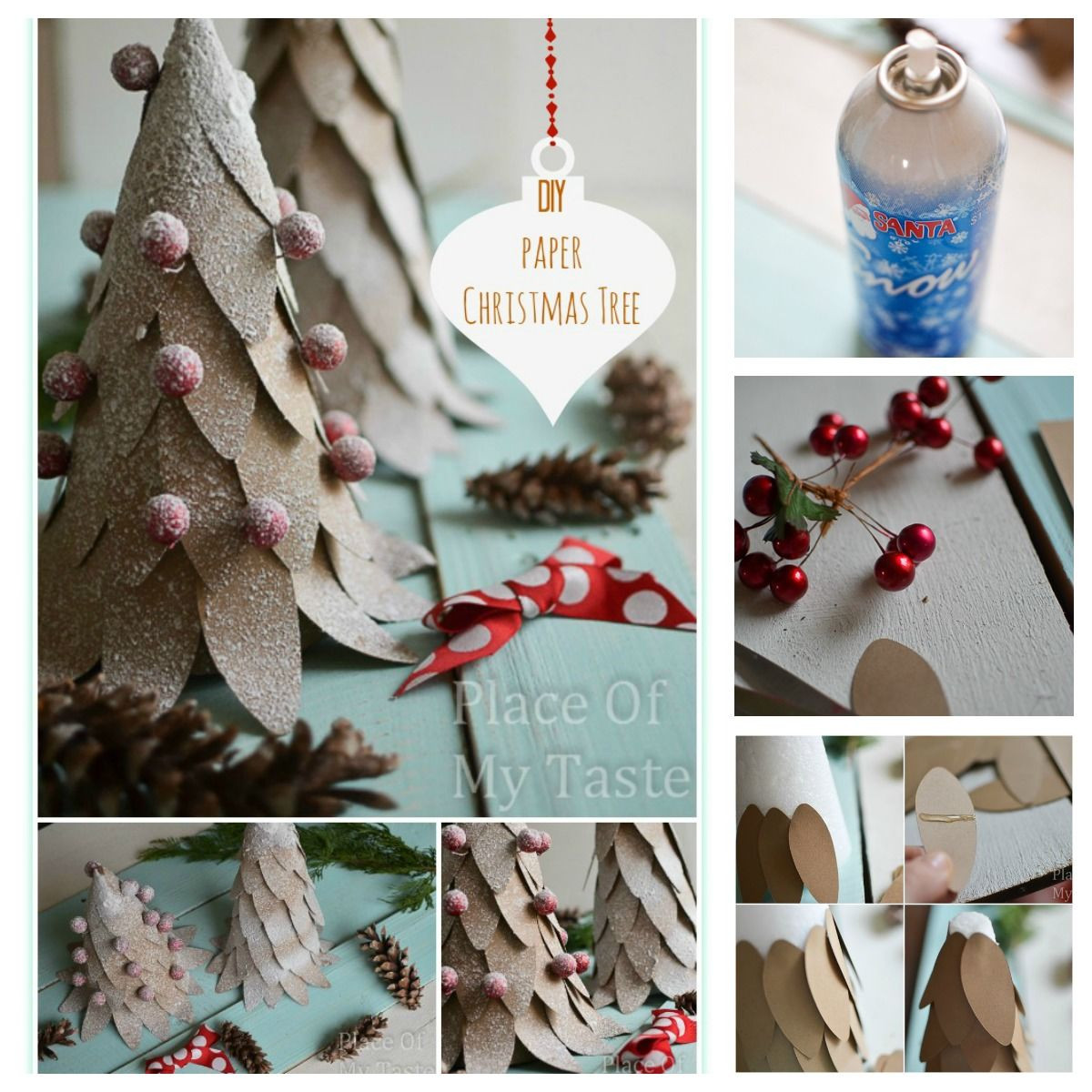 Best ideas about DIY Christmas Crafts . Save or Pin DIY Paper Christmas Tree Craft s and Now.