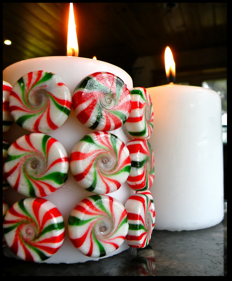 Best ideas about DIY Christmas Crafts . Save or Pin Killer Crafts DIY Holiday Peppermint Candy Candle Now.