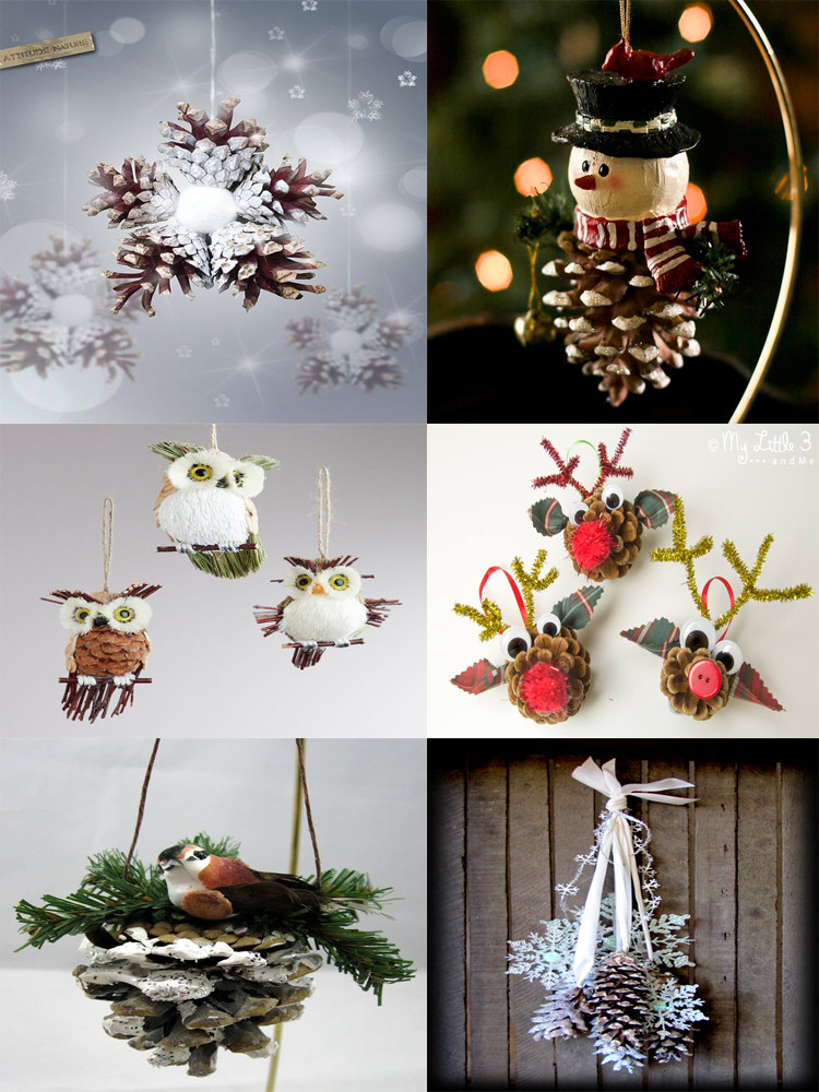Best ideas about DIY Christmas Crafts . Save or Pin 40 Easy and Cute DIY Pine Cone Christmas Crafts Now.