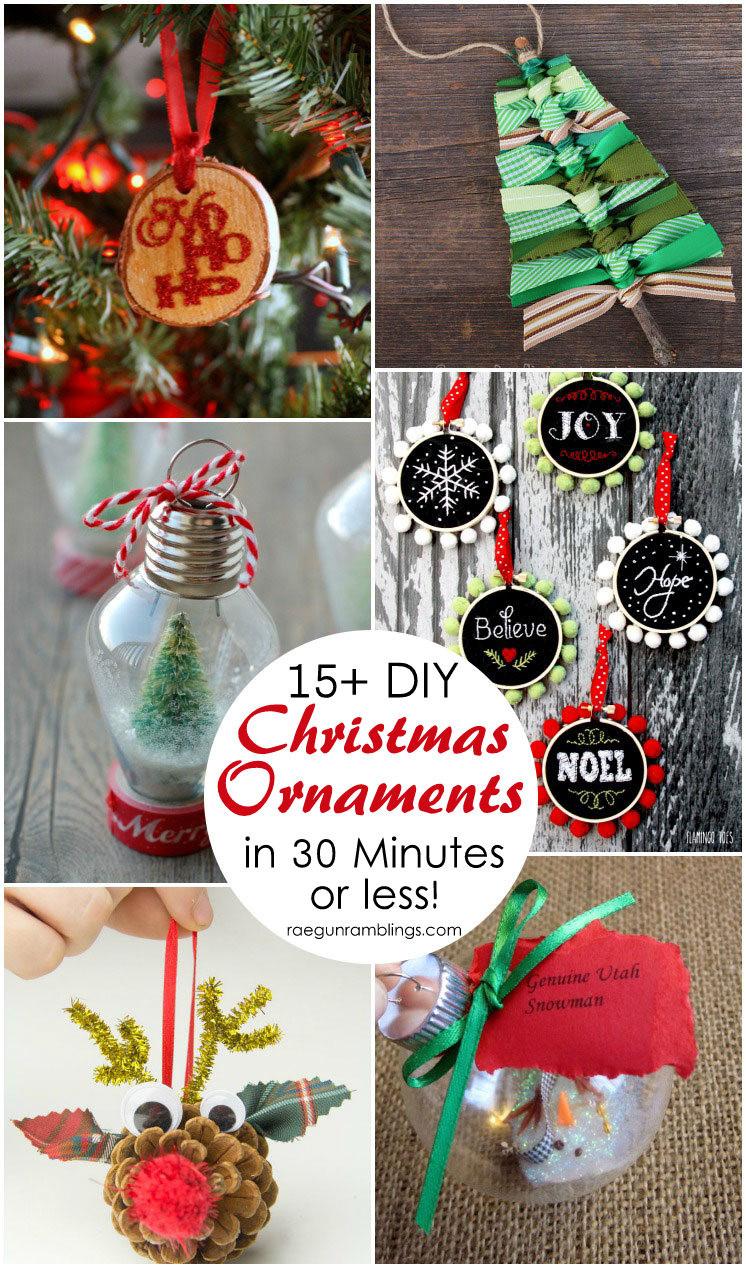 Best ideas about DIY Christmas Crafts . Save or Pin 15 DIY Christmas Ornament Tutorials Rae Gun Ramblings Now.