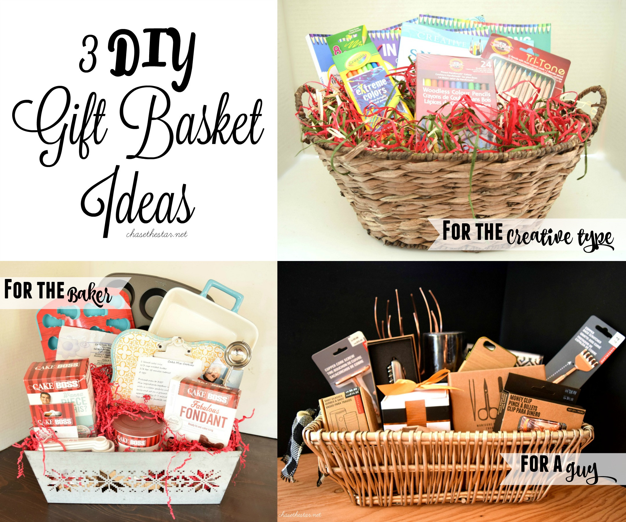 Best ideas about DIY Christmas Gift Baskets Ideas . Save or Pin 3 DIY Gift Basket Ideas Now.