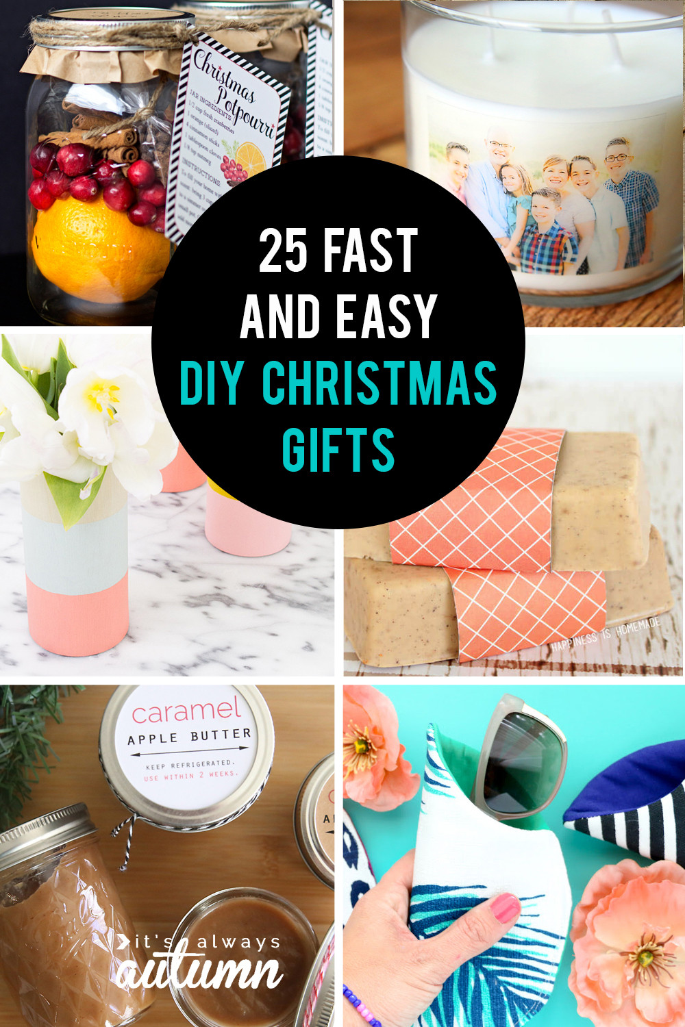 Best ideas about DIY Christmas Gift . Save or Pin 25 easy homemade Christmas ts you can make in 15 Now.