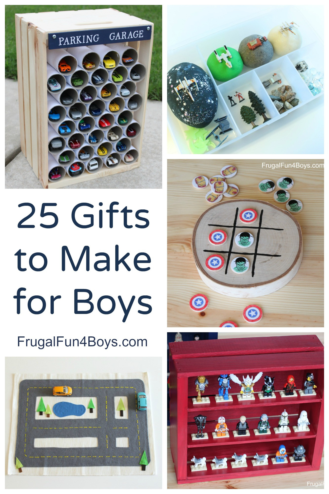 Best ideas about DIY Christmas Gifts For Boys . Save or Pin 25 More Homemade Gifts to Make for Boys Frugal Fun For Now.
