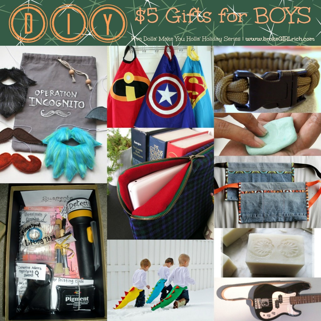 Best ideas about DIY Christmas Gifts For Boys . Save or Pin Five Dolla Make You Holla Holiday Series Brothers Now.