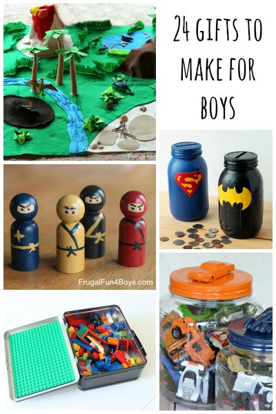 Best ideas about DIY Christmas Gifts For Boys . Save or Pin Gifts to Make for Boys Frugal Fun For Boys and Girls Now.