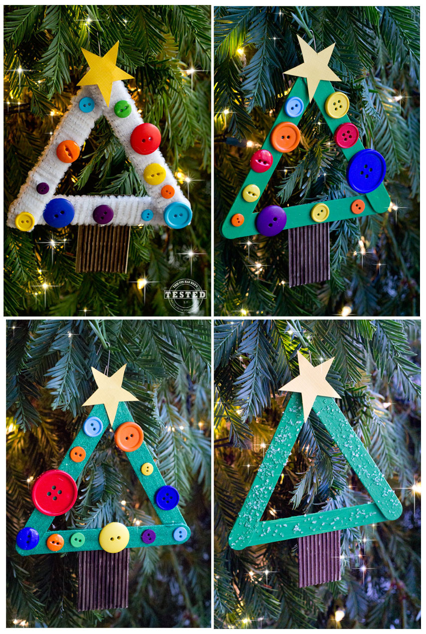 Best ideas about DIY Christmas Ornament For Kids . Save or Pin DIY Kids Christmas Tree Ornament TGIF This Grandma is Fun Now.
