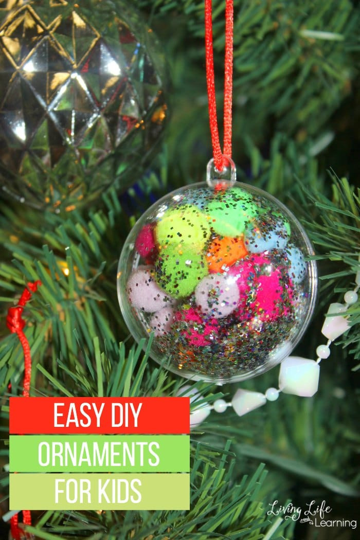 Best ideas about DIY Christmas Ornament For Kids . Save or Pin Easy DIY Ornaments for Kids Now.