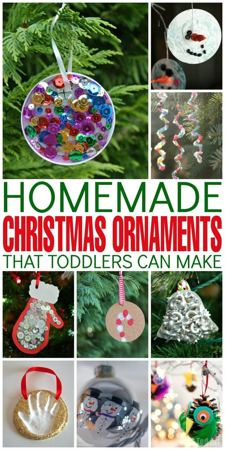 Best ideas about DIY Christmas Ornaments For Toddlers . Save or Pin 1000 ideas about Homemade Christmas Ornaments on Now.