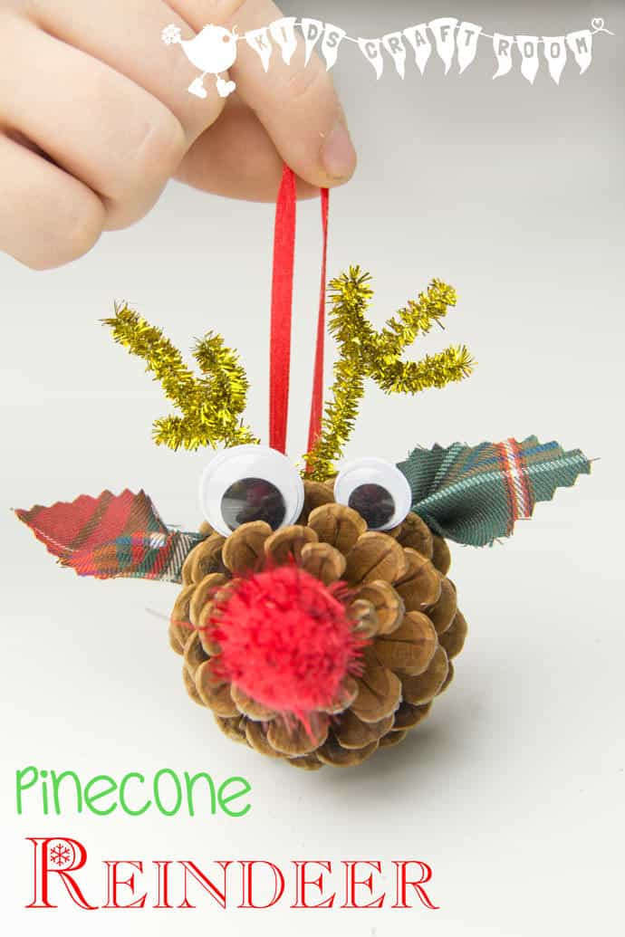 Best ideas about DIY Christmas Ornaments For Toddlers . Save or Pin Pinecone Reindeer Homemade Ornaments Kids Craft Room Now.
