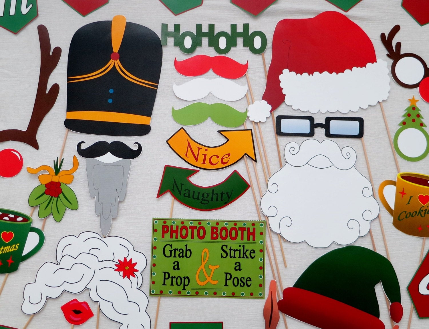 Best ideas about DIY Christmas Photo Booth . Save or Pin PDF Christmas Booth Props PRINTABLE booth DIY Now.