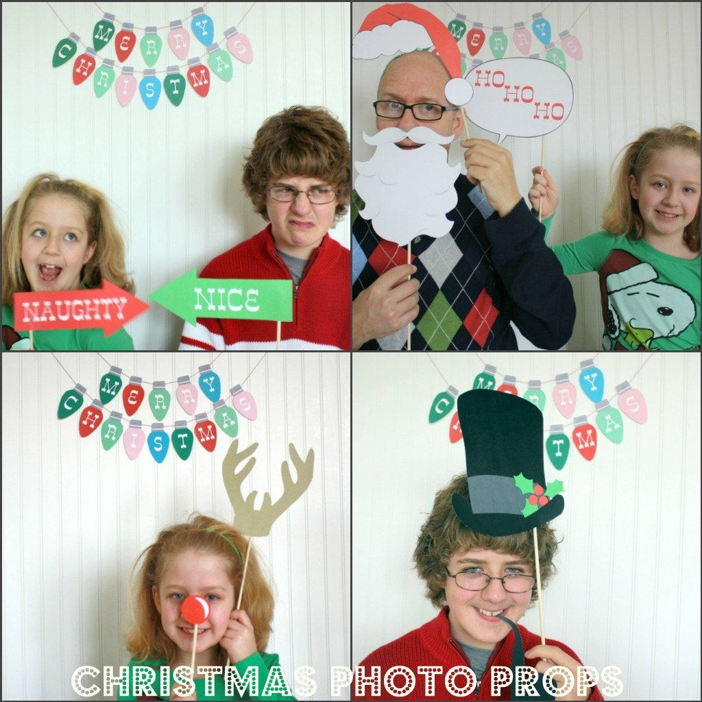 Best ideas about DIY Christmas Photo Booth . Save or Pin Christmas Booth Props DIY Printable pdf Now.