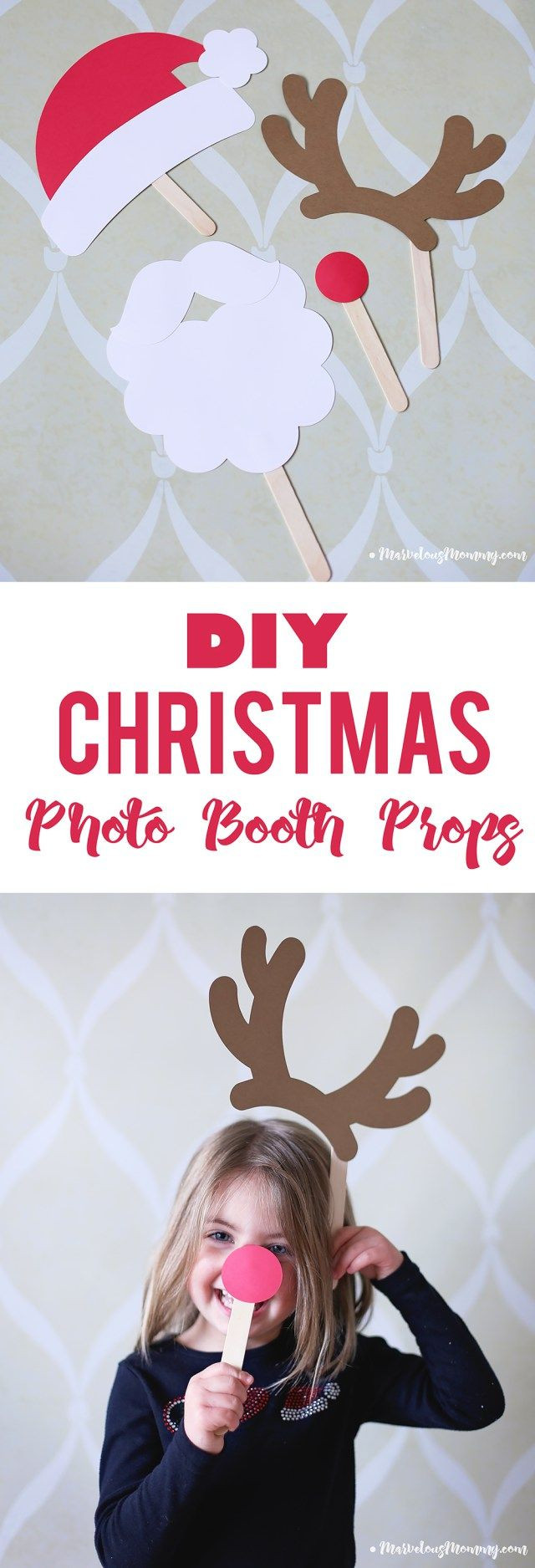 Best ideas about DIY Christmas Photo Booth . Save or Pin DIY Chrismtas Booth Props Silhouette CAMEO Now.