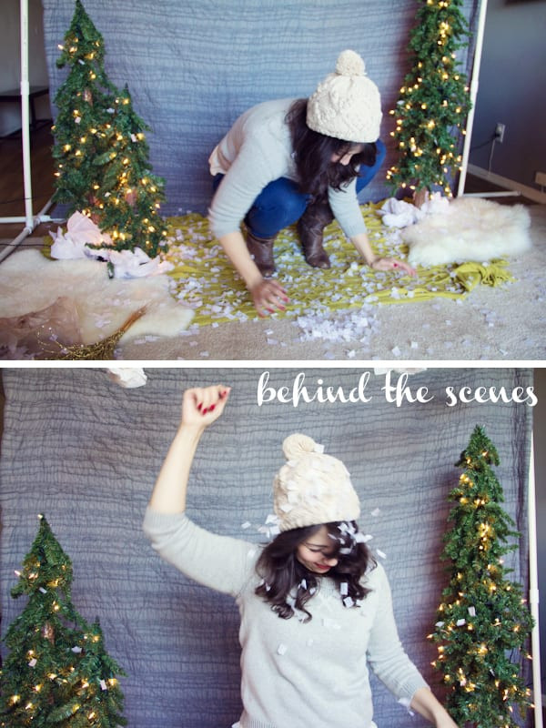 Best ideas about DIY Christmas Photo Booth . Save or Pin DIY Holiday Backdrop Now.