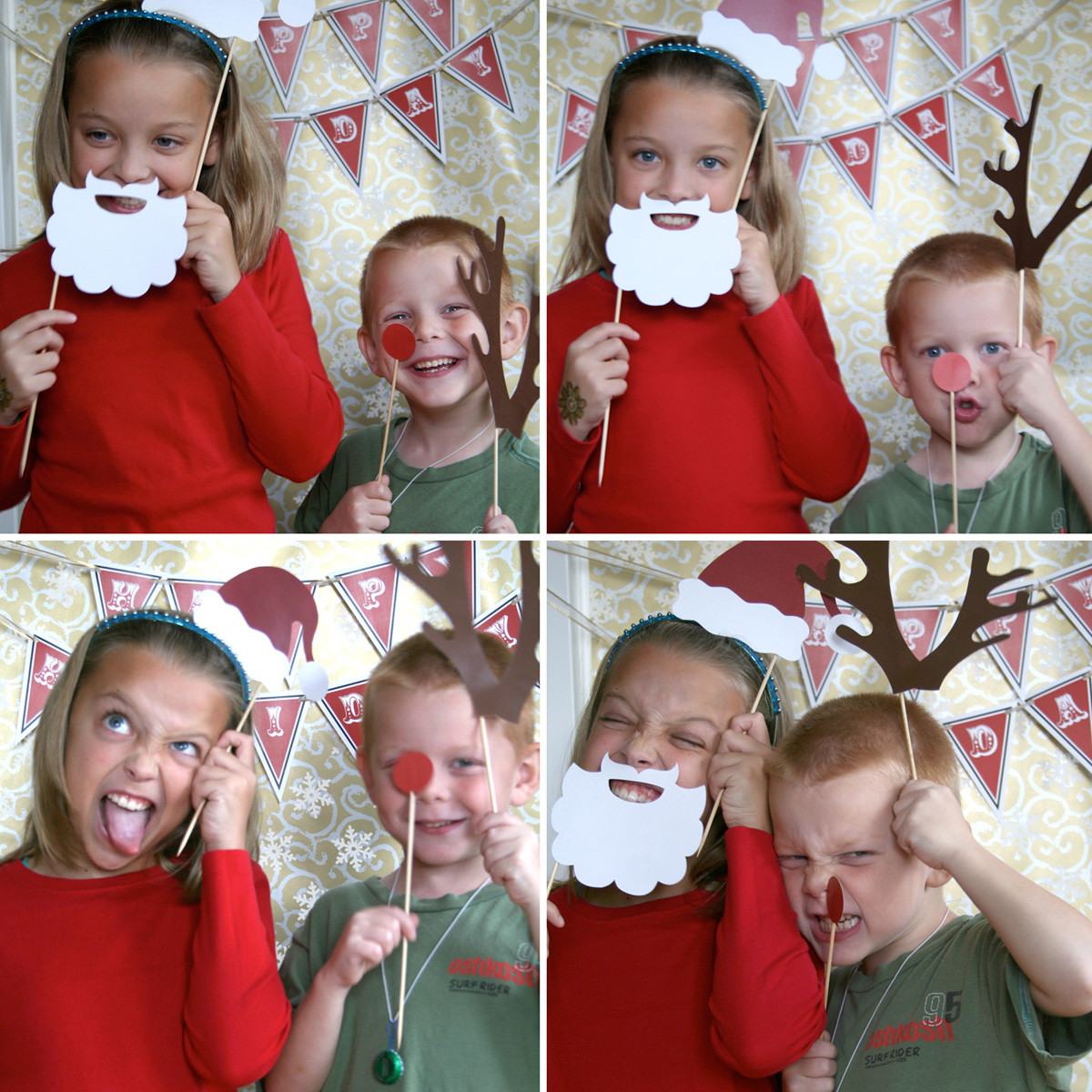 Best ideas about DIY Christmas Photo Booth . Save or Pin paper and cake Holiday Booth Props Now.
