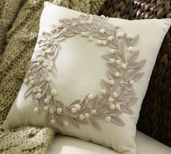 Best ideas about DIY Christmas Pillow . Save or Pin homey home design Pottery Barn Knock off Pillow for the Now.