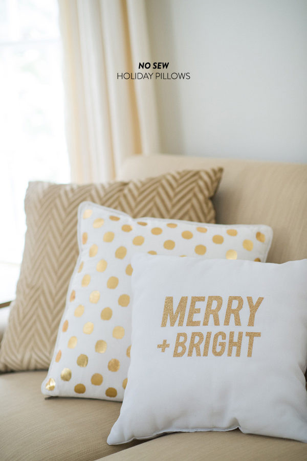 Best ideas about DIY Christmas Pillow . Save or Pin DIY Holiday Throw Pillows Style Me Pretty Living Now.