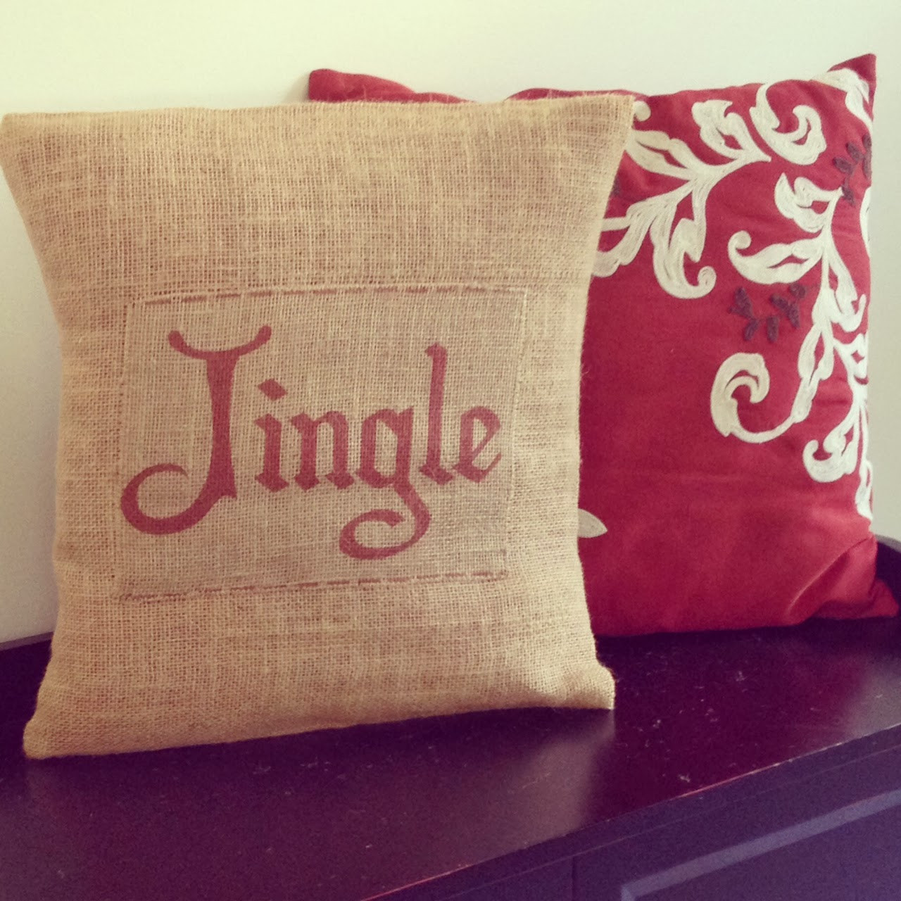 Best ideas about DIY Christmas Pillow . Save or Pin Two It Yourself DIY Burlap Christmas Pillows Now.
