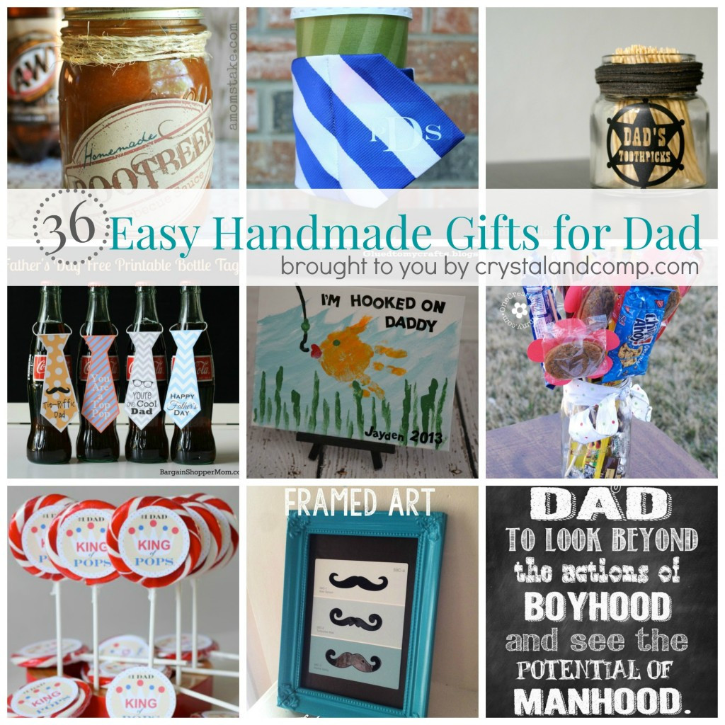 Best ideas about DIY Christmas Presents For Dads . Save or Pin 36 Easy Handmade Gift Ideas for Dad Now.