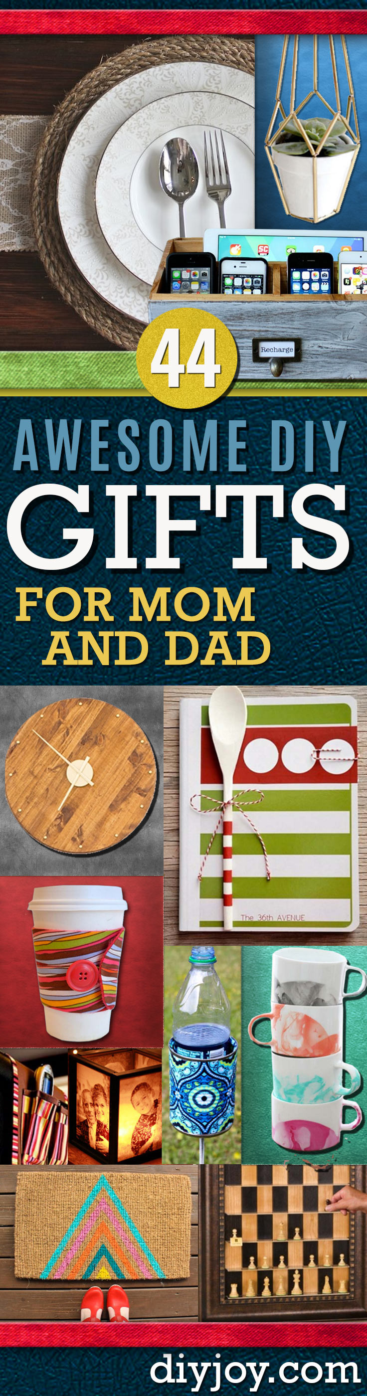 Best ideas about DIY Christmas Presents For Dads . Save or Pin Awesome DIY Gift Ideas Mom and Dad Will Love Now.