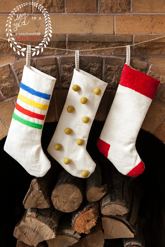 Best ideas about DIY Christmas Stocking . Save or Pin DIY Felted Christmas Stockings Giveaway Say Yes Now.