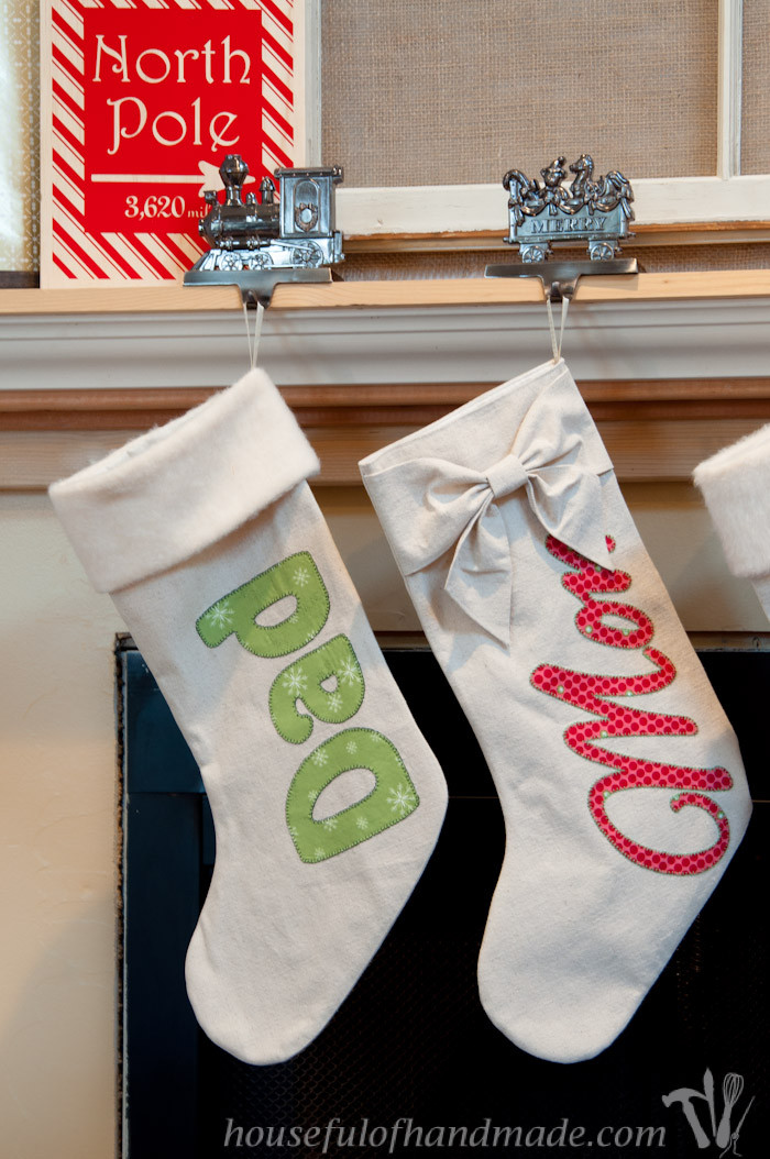 Best ideas about DIY Christmas Stocking . Save or Pin DIY Personalized Drop Cloth Christmas Stockings a Now.