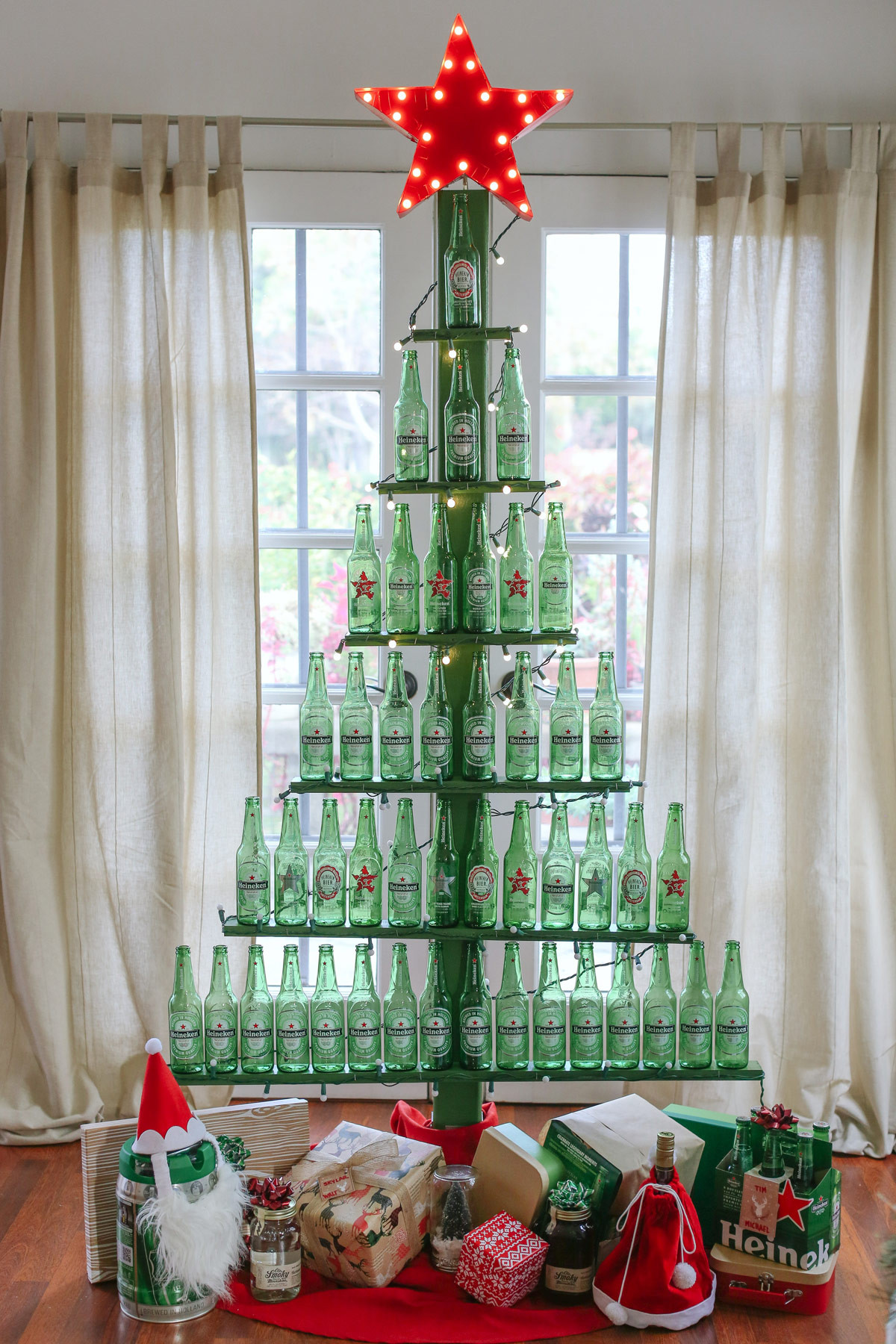 Best ideas about DIY Christmas Tree . Save or Pin DIY Beer Bottle Tree Evite Now.