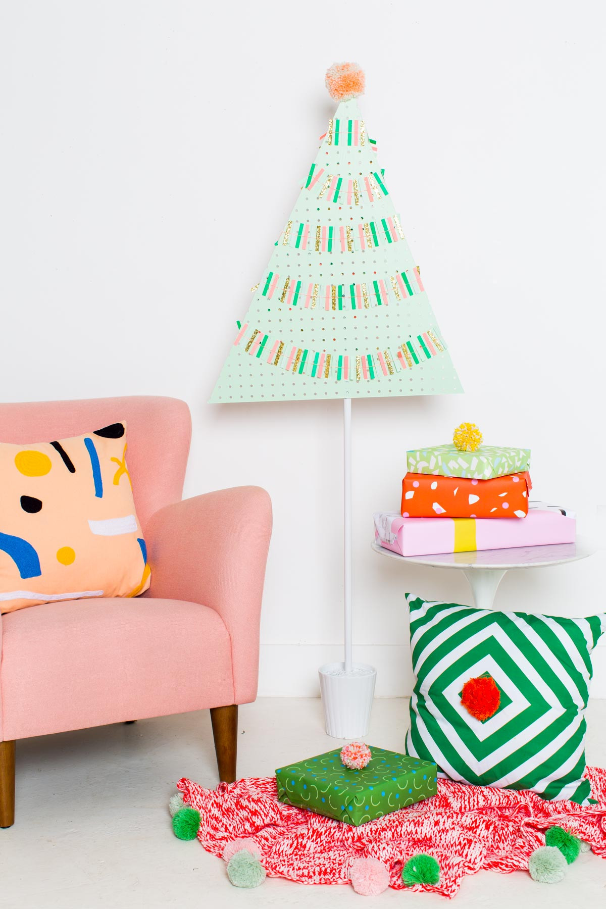 Best ideas about DIY Christmas Tree . Save or Pin DIY Pegboard Christmas Tree Now.