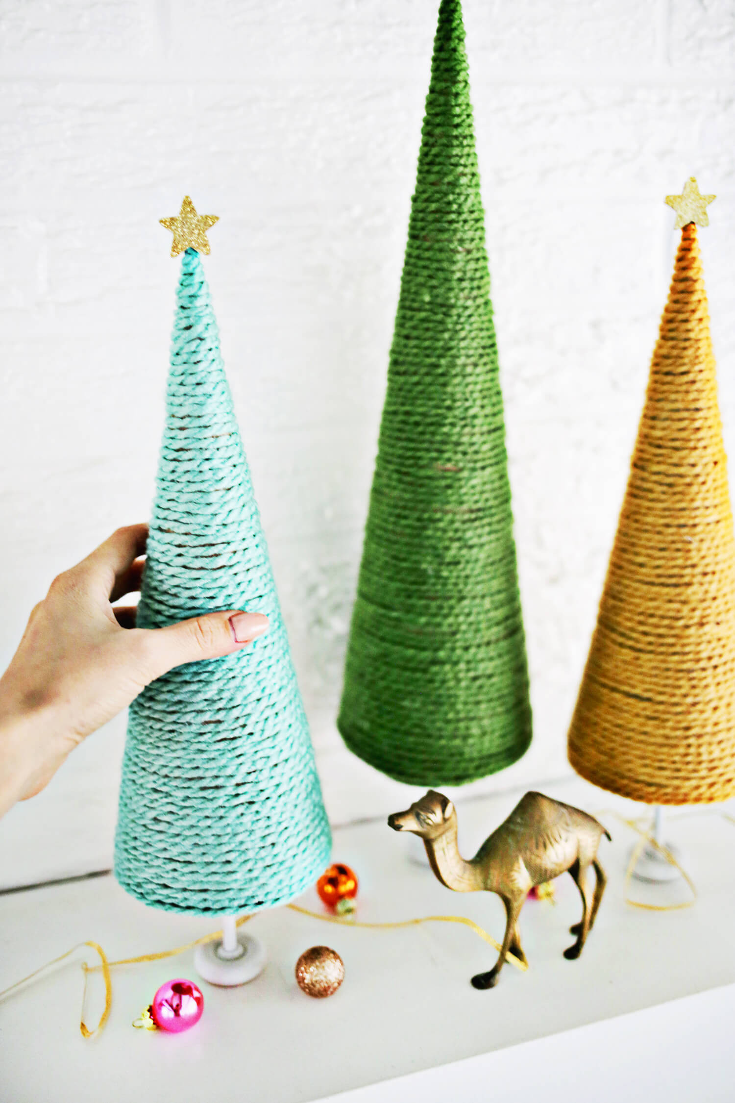 Best ideas about DIY Christmas Tree . Save or Pin Yarn Christmas Tree DIY A Beautiful Mess Now.