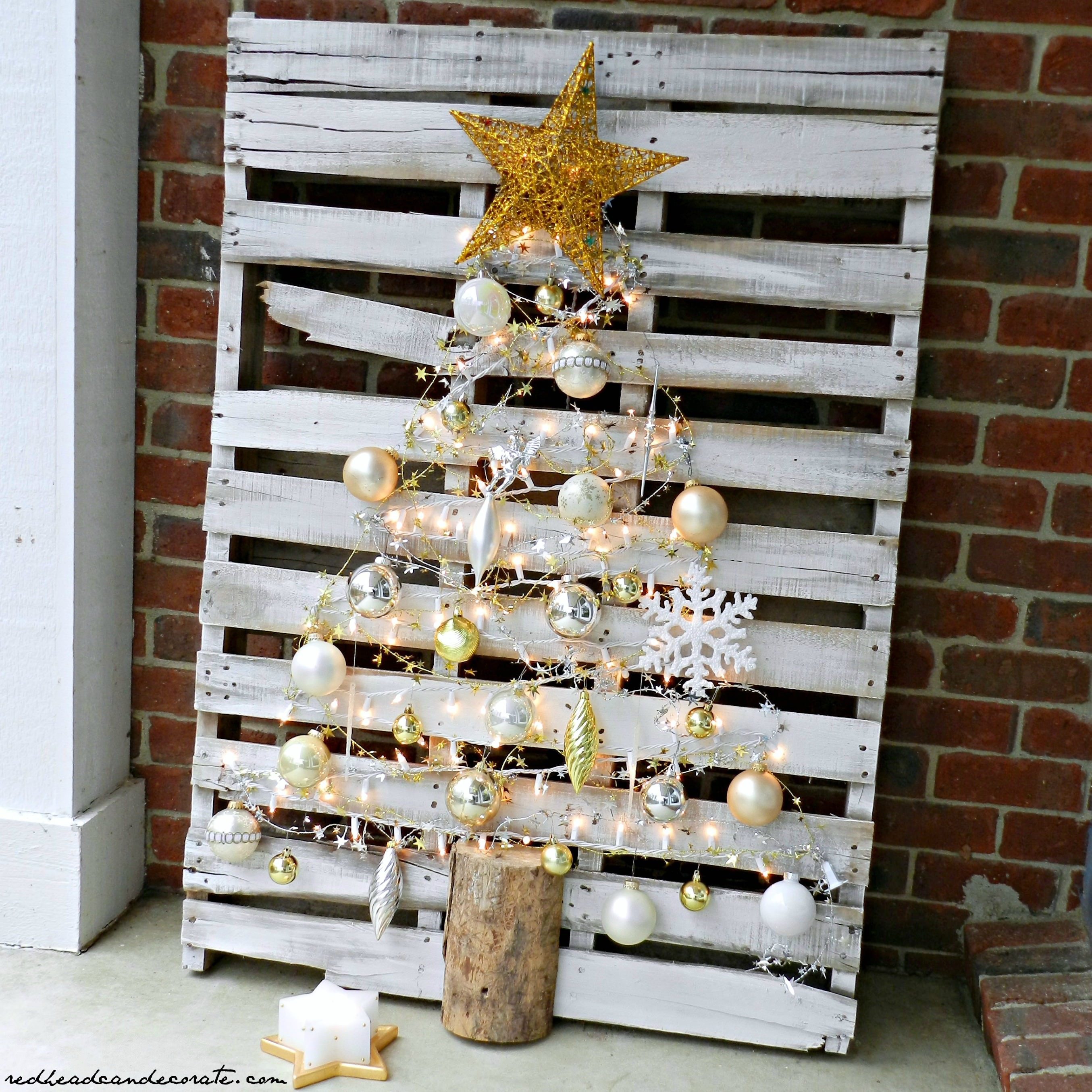 Best ideas about DIY Christmas Tree . Save or Pin Pallet Christmas Tree Redhead Can Decorate Now.