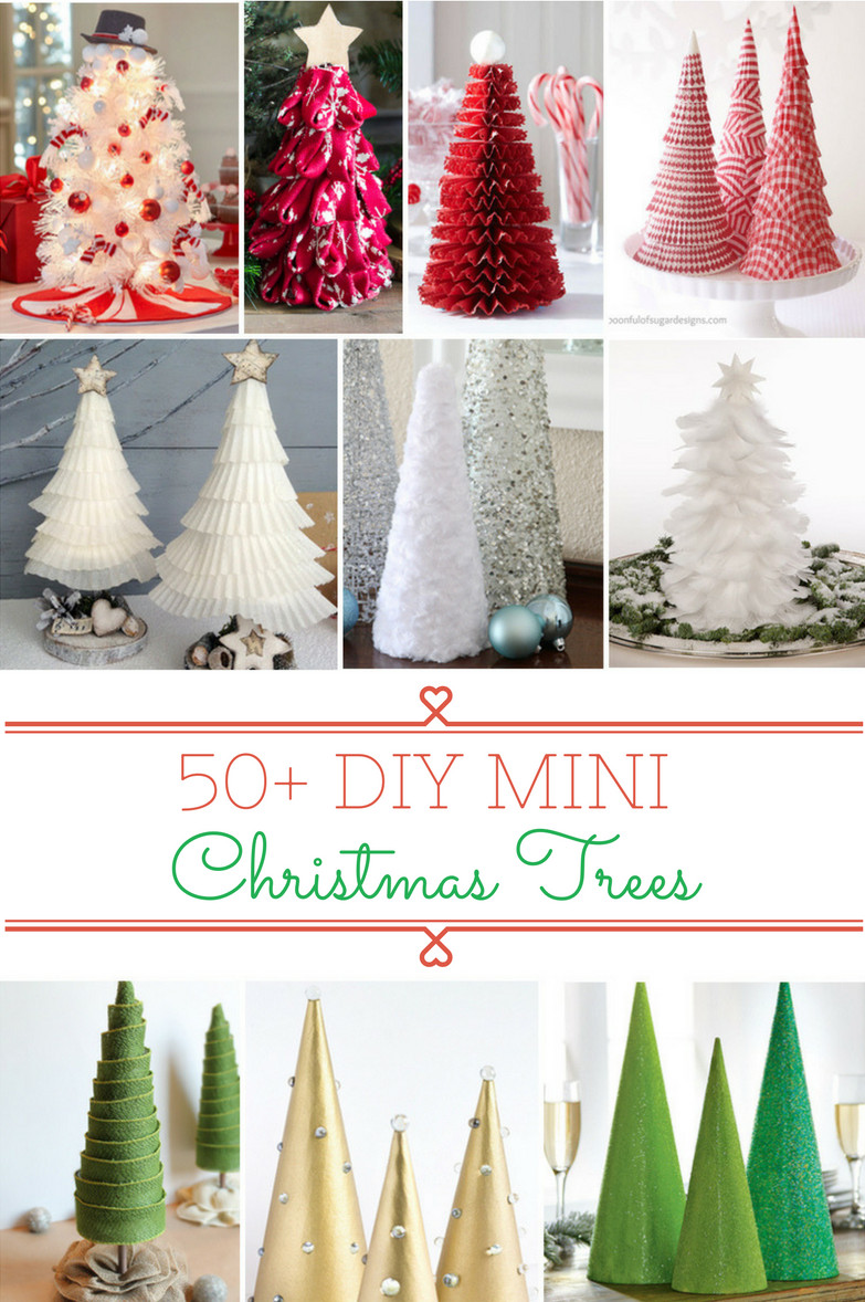 Best ideas about DIY Christmas Tree . Save or Pin 50 DIY Mini Christmas Trees Prudent Penny Pincher Now.