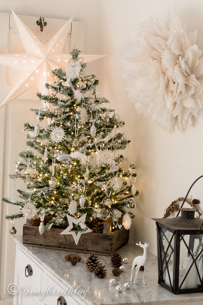 Best ideas about DIY Christmas Tree . Save or Pin My DIY flocked Christmas tree Songbird Now.