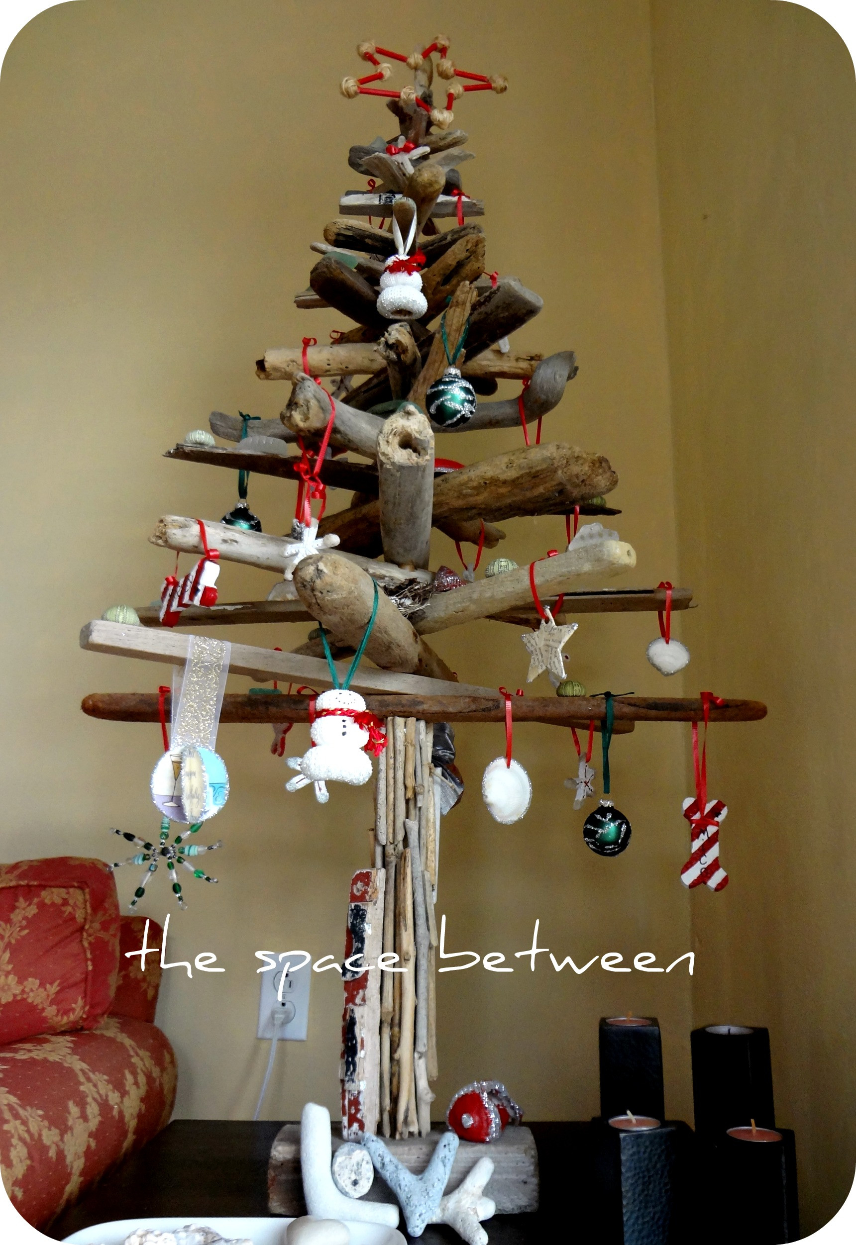 Best ideas about DIY Christmas Tree . Save or Pin diy driftwood Christmas tree with homemade ornaments Now.