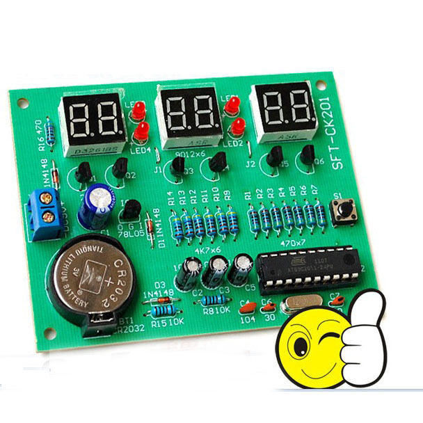 Best ideas about DIY Clock Kit . Save or Pin AT89C2051 6 Digit LED Electronic clock parts Digital Clock Now.