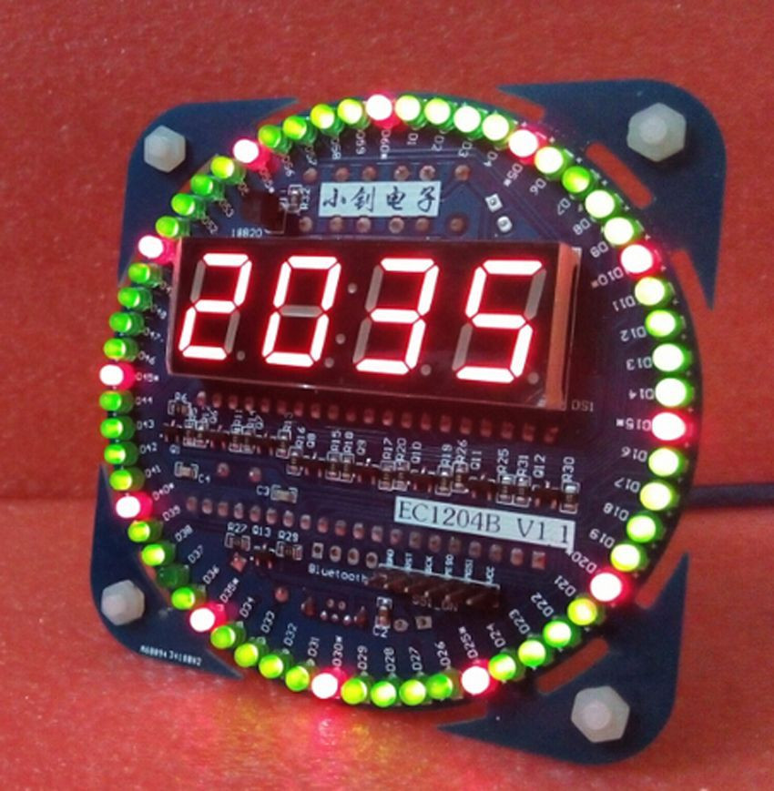 Best ideas about DIY Clock Kit . Save or Pin DIY DS1302 Rotate LED Digital Electronic Clock Alarm Kit Now.