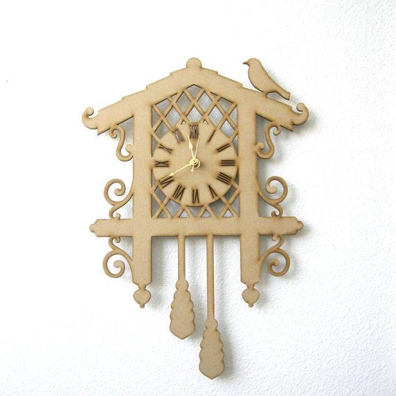 Best ideas about DIY Clock Kit . Save or Pin DIY Cuckoo Clock Kit Wood Clock Laser Cut Clock by FabParlor Now.