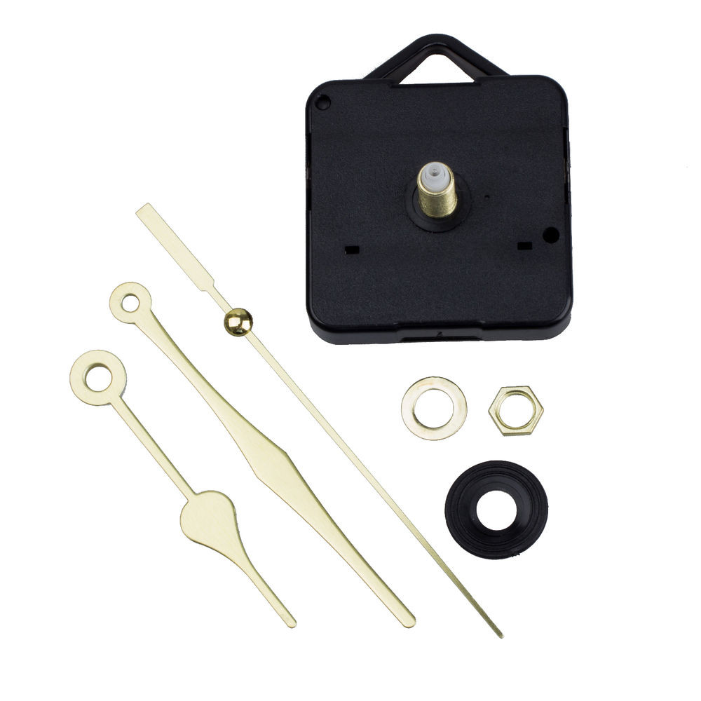 Best ideas about DIY Clock Kit . Save or Pin New Quartz Clock Movement Mechanism Gold Hands DIY Repair Now.