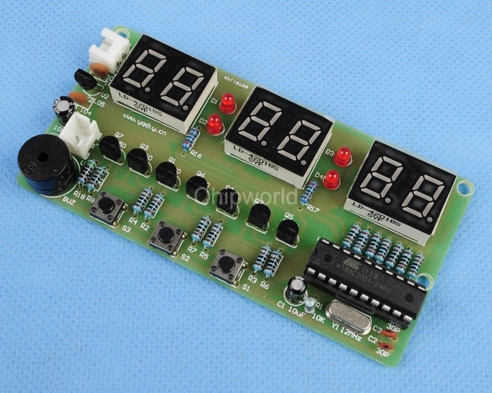 Best ideas about DIY Clock Kit . Save or Pin DIY Kits C51 6 Bits Digital Electronic Clock Electronic Now.