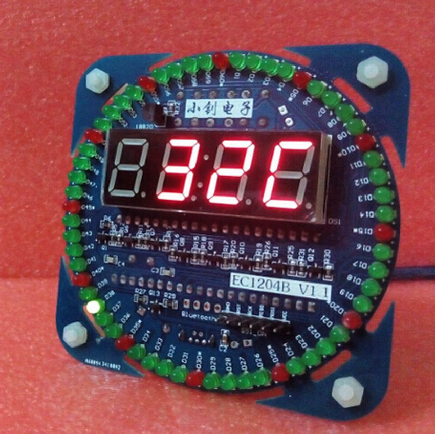 Best ideas about DIY Clock Kit . Save or Pin 4 Modes LED Display DIY DS1302 Rotating LED Electronic Now.