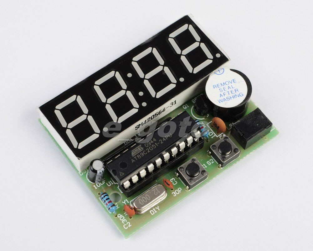 Best ideas about DIY Clock Kit . Save or Pin C51 Electronic Clock 4 Bits Clock kit Electronic Now.