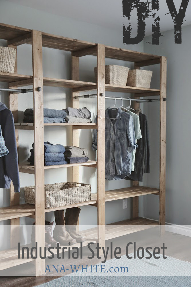 Best ideas about DIY Closet Kit . Save or Pin Ana White Now.