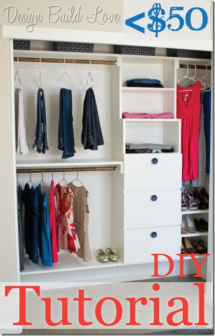 Best ideas about DIY Closet Kit . Save or Pin 20 Great DIY Furniture Projects on a Bud Style Motivation Now.