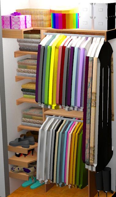 Best ideas about DIY Closet Organizer . Save or Pin DIY Small Closet Organizer Plans Now.