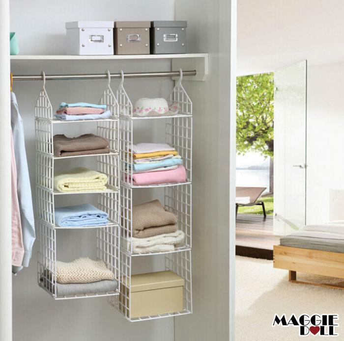 Best ideas about DIY Closet Rack . Save or Pin Wardrobe Storage DIY Hanger Hanging Closet Organizer Now.
