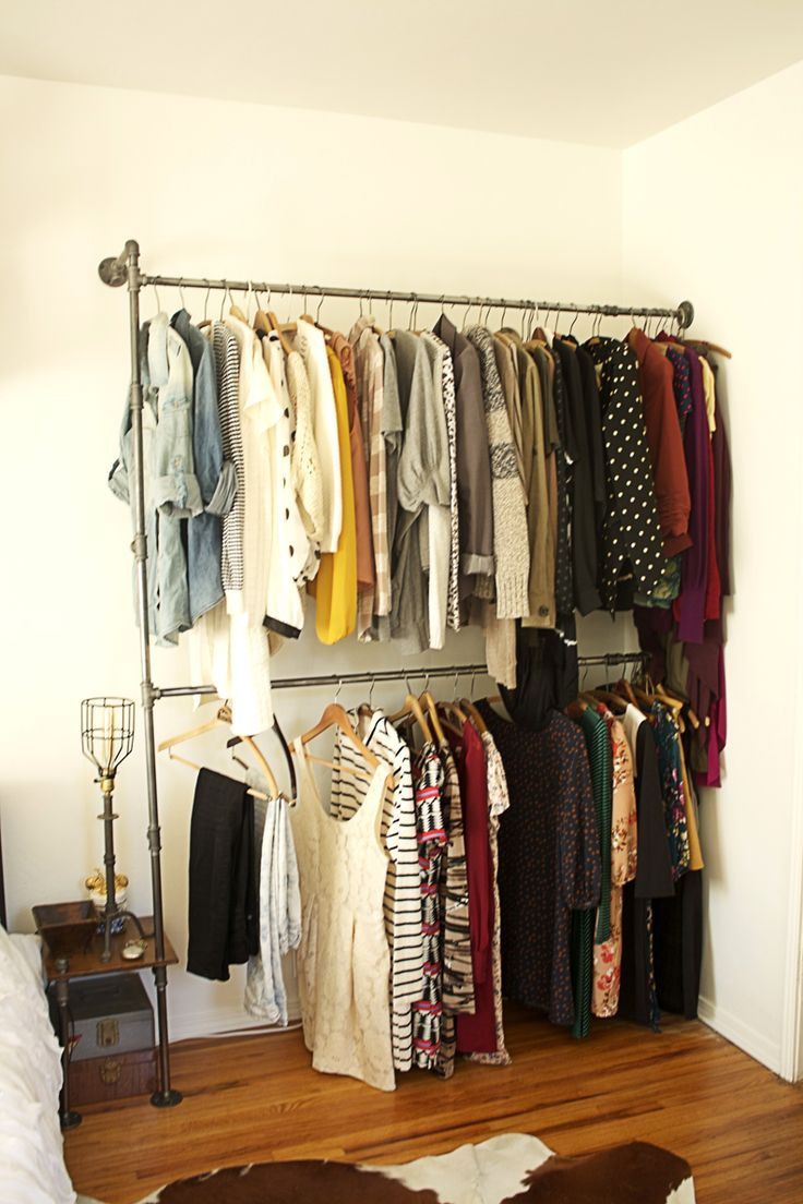 Best ideas about DIY Closet Rack . Save or Pin DIY Industrial Pipe Shelving is perfect for houses Now.
