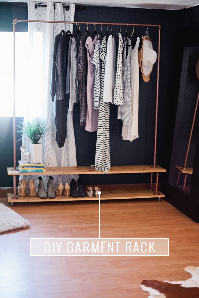 Best ideas about DIY Closet Rack . Save or Pin Rolling DIY Garment Rack for Your Wardrobe Now.